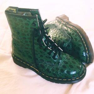 VINTAGE Green Alligator Dr. Martens